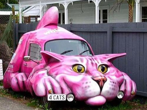 Смешные машины розывово цвета